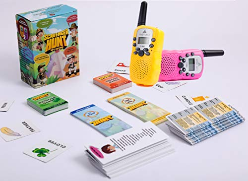 Walkie Talkies Scavenger Hunt Kids Family Game Yard Outdoor Indoor Play Spy Edition Children Birthday Party for Boys Girls Play