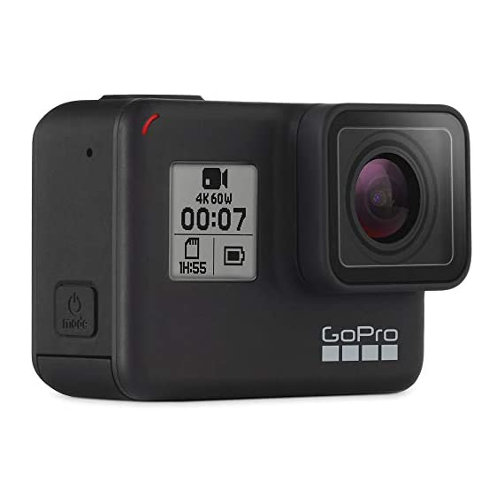 Gopro hero 7 (black) action camera w/dual battery charger and extra battery bundle 5 this k&m bundle includes all standard gopro accessories + limited 1-year warranty gopro hero 7 (black) action camera box includes: gopro hero7 black, rechargeable battery, the frame for hero7 black, curved adhesive mount, flat adhesive mount, mounting buckle, usb-c cable, limited 1-year warranty. Gopro hero 7 (black) action camera highlights: 4k60/50, 2. 7k120/100 & 1080p240/200, 12mp still photos with selectable hdr, hypersmooth video stabilization, direct live streaming to facebook live