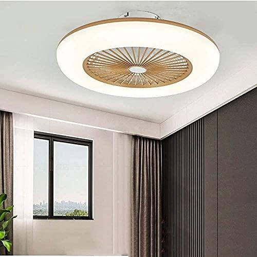 SHU Ventilador de techo led regulable redondo con control remoto ligero, luz de techo con ventilador invisible, lámpara de techo de sala de estar, dormitorio de comedor Habitación para niños Araña Lám