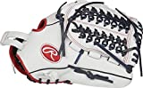 Rawlings RLA125FS-15WNS-3/0 Liberty Advanced Fastpitch Softball Glove, White/Scarlet/Navy, 12.5'