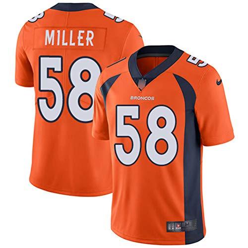 NCNC 58# Broncos NFL Trikot für Herren, Fußballtrikot aus besticktem Mesh (s-XXXL)-orange-S