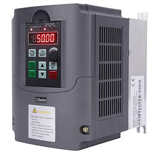 Convertidor e inversor VFD, controlador de frecuencia variable de 2200V 4KW monofásico a trifásico, convertidor convertidor universal para control de velocidad del motor