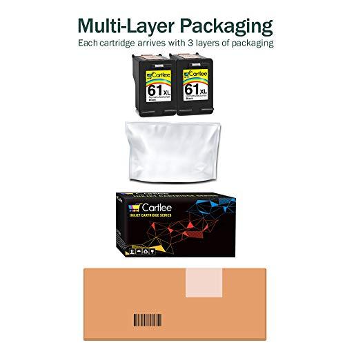 Cartlee Pack of 2 Black Remanufactured 61XL High Yield Ink Cartridges for HP Deskjet 1000 1010 1050 1510 1512 2000 2050 2510 2540 2542 2543 2549 3000 3050 Officejet 2622 4630 2620 4632 4635 Photo #3