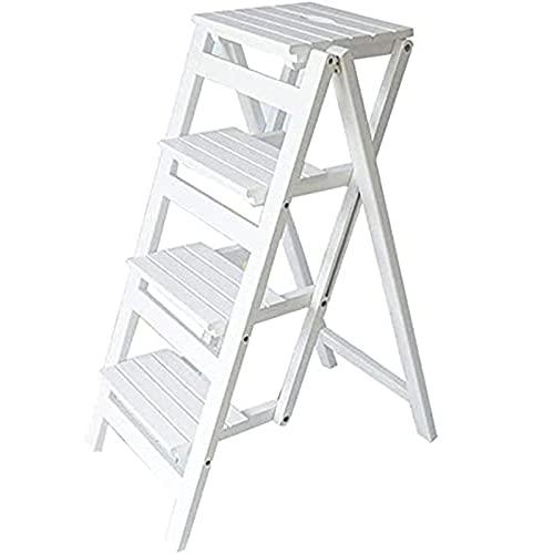 YXZN Escalera Plegable en Diseño 3 Peldaños - Escalera Doméstica Antideslizante, Escalera...