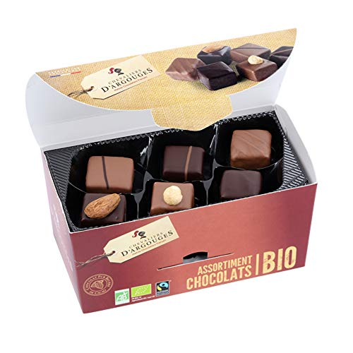 Chevaliers dArgouges - Assortiment de chocolats noir, lait Bio/Fairtrade - Ballotin dégustation - 184g
