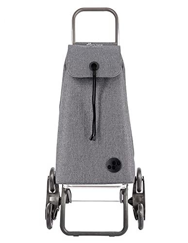 Rolser Carro I-MAX Tweed 6 Ruedas Sube Escaleras Plegable - Gris