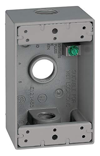 Sigma Electric 142523/4-Zoll 3-Loch 1Fach Box, grau