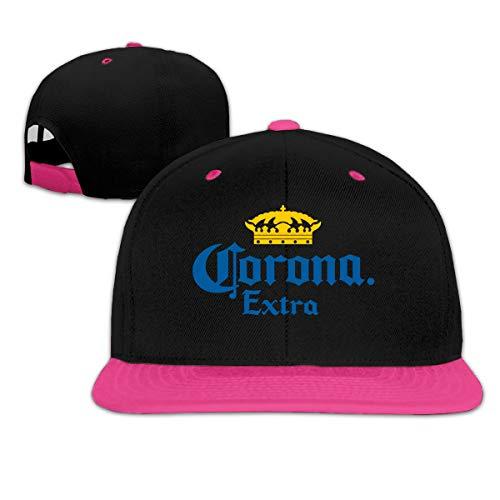 Corona Extra Beer Bucket para cerveza, machos y hembras, hebilla rápida, gorra de béisbol, rosa, talla única