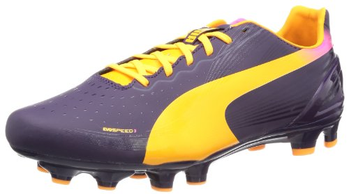 Puma evoSPEED 3.2 FG 102864, Herren Fußballschuhe, Violett (blackberry cordial-fluo orange-fluo pink 02), EU 44 (UK 9.5) (US 10.5)