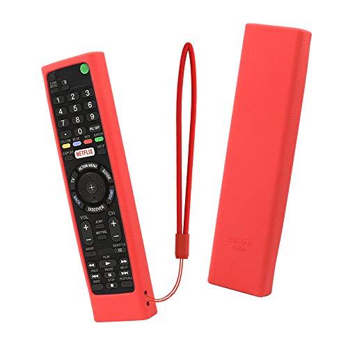 SIKAI TV Remote Controllo Protettivo Caso Cover per Sony RMT-TX100 / RMT-TX100 Custodia Protettiva per telecomando per Sony telecomando Sony Remote Controller RMF-TX200C (Rosso)
