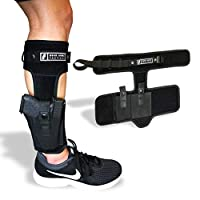 Ankle Holster for Law Enforcement, Military, Personal Protection and Concealed Carry   B.U.G Leg Holster   Fits: Glock 43, 42, 33, 30, 27, 26 M&P Shield 9mm, Bodyguard .380, Ruger LCP, LC9, Sig Sauer