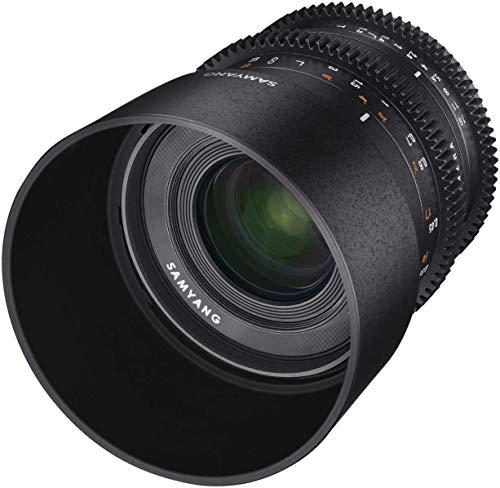 Samyang 35mm T1.3 Video Objektiv für Fuji X – manuelles Cine Objektiv entwickelt für APS-C, 35 mm Festbrennweite Videoobjektiv für spiegellose Fuji-X Mount Kameras schwarz