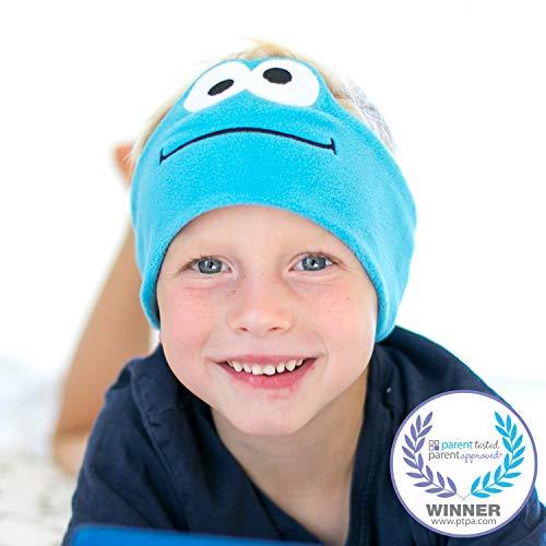 Sesame Street Kids Headphones by CozyPhones - Volume Limited with Ultra-Thin Speakers & Super Comfortable Soft Fleece Headband - Perfect Children's Earphones for School, Home & Travel – Cookie Monster