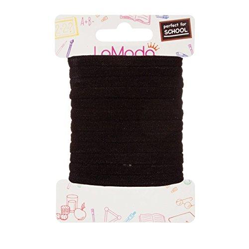 lamoda princesa suave gomas de pelo, color negro, 12unidades