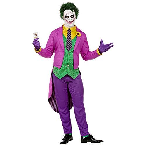 NET TOYS Tolles Joker-Kostüm für Männer | Violett-Grün in Größe L (52) | Extravagantes Herren-Outfit Bösewicht | Perfekt geeignet für Halloween & Kostümfest