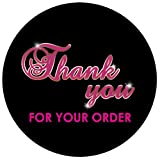 RXBC2011 500 Thank You for Your Order Stickers Black 1.5 Inch Thank You Stickers Business Packaging Stickers Shipping Supplies Stickers Thank You Labels Favor Stickers