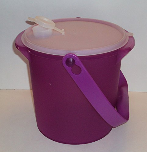 Tupperware Jumbo 5 Quart Canister Tote Carrying Handle Pour-All Seal Berry Bliss