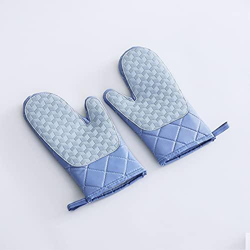Guantes de silicona de aislamiento térmico que engrosan los guantes de horno de microondas guantes