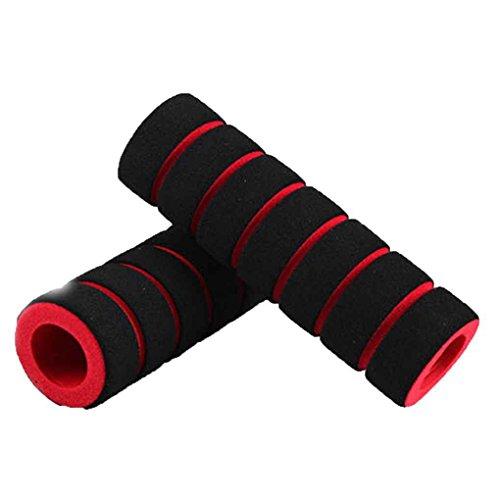 Aiming Esponja suave 1 par de bicicletas de montaña antideslizante manillar Puños cubierta multicolor rojo