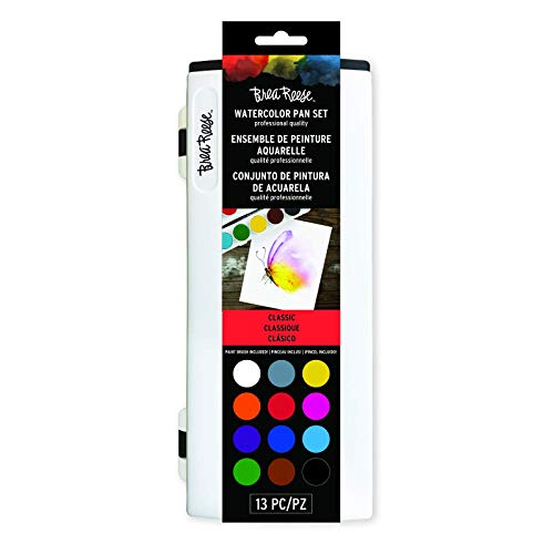 Brea Reese Watercolor Pan Set - Core Colors - Professional Grade Watercolors in a Brilliant Palette