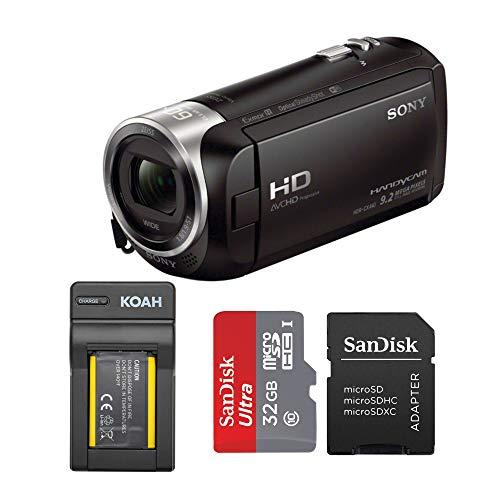 Sony HDRCX440 Handycam HD Camcorder with 32GB SD Card and Battery Bundle -  HDRCX440B-SR32UY2ATQ