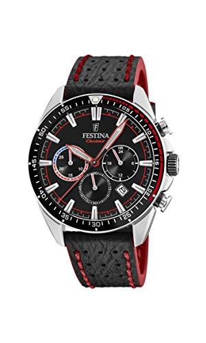 Festina Herren Chronograph Quarz Uhr mit Leder Armband F20377/6