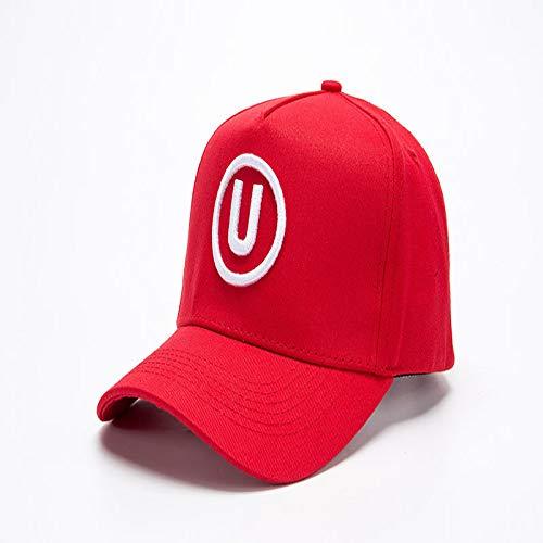 sdssup Moda Carta Bordado Gorra de béisbol Influx Algodón Curva Junto Gorra Deportes al Aire Libre Visera Sombrero Rojo Ajustable