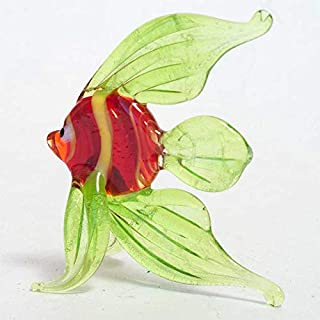 Small Glass Fish Figurine Hand-Blown Art Collectible Figures