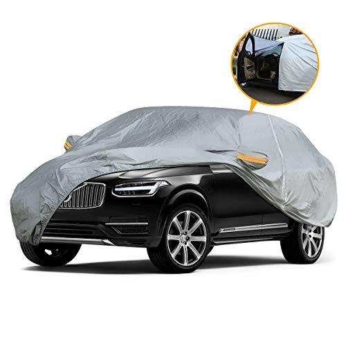 YIBEICO Telo Copriauto da Esterno con Una Cerniera per SUV, Auto Impermeabile Pieghevole Anti UV Anti Pioggia Sole (510 * 190 * 150cm)