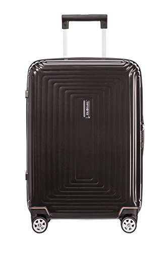 Samsonite Neopulse Spinner S (Width: 23 cm) Hand Luggage, 55 cm, 44 Liter, Black (Metallic Black)
