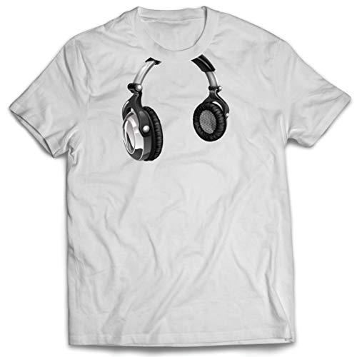 lepni.me Camisetas Hombre Regalo de DJ para los Amantes de la música Música Retro, Electrónica, Auriculares Imprimir