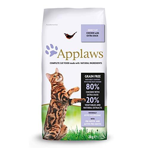 Applaws Cat Dry 9101416 - Mangime per gatti, Pollo Con Anatra Extra, 2 kg