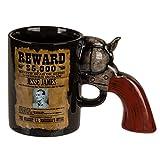 OOTB 78/8287 Taza-Mug Revólver 18X12 Cm, Negro