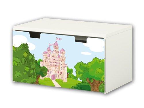 Mundo encantado pegatinas | pegatinas para muebles | BT13 | adecuado para el arcón de banco STUVA von IKEA para niños (90 x 50 cm) | Perfecto como arcón de juguetes y banco