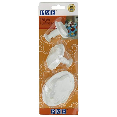 PME PAW203 Ausstechformen, Pfote, Kunststoff, 3 Stück