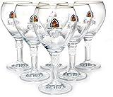 lot de 6 verre a biere leffe 25cl nouveau modele+ 6 sous bock neuf 25 cl verres