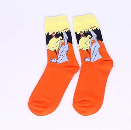 Mouchao Neue literarische Retro weltberühmte Gemälde Serie Paar Socken