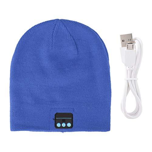 DAUERHAFT Sombrero Bluetooth con Cable USB, Sombrero de Llamada Bluetooth Full Duplex para teléfonos móviles, portátiles, Altavoces, 8 Colores(Azul)