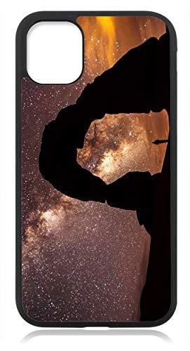 aina Kompatibel mit Samsung Galaxy S21 Hülle Silikon Dünn, Handyhülle für Samsung Galxy S21 5G Schutzhülle Hülle Schwarz Sternenhimmel Motiv Bild
