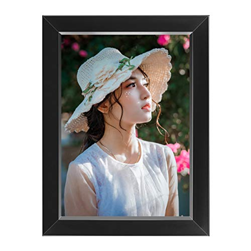 SUPLEDCK Metal Picture Frame - 20 Seconds Voice Recording Photo Frame for Wall Table, 5' x 7', Black