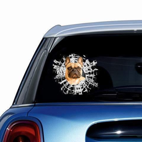 French Bulldog Widow Car Decal Dog Sticker Car Decoration Christmas Gift Christmas Gift