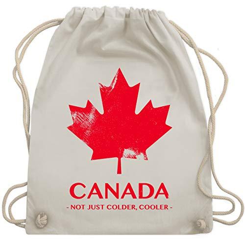 Shirtracer Länder - Canada Vintage Not just colder cooler - Unisize - Naturweiß - kanada geschenke - WM110 - Turnbeutel und Stoffbeutel aus Baumwolle