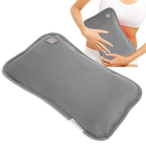 Beheiztes Kissen, Handwärmer mit 3 Temperaturreglern für den Winter, elektrisches USB-Heizkissen zum Warmhalten(Grau)