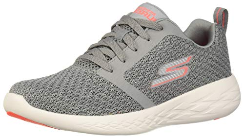 Skechers Damen Go Run 600 Circulate Sneaker,Grau Koralle,37 EU