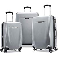 Samsonite Winfield 3 DLX Hardside Luggage with Spinner Wheels (Silver)