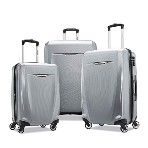 Samsonite Winfield 3 DLX Hardside Luggage, Silver, 3-Piece Set