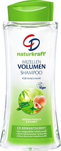CD Naturkraft Mizellen Volumen Shampoo, Haarwaschmittel für feines Haar, Haarpflege ohne Silikone, mit weißem Pfirsich & Bambus, vegan, für gesunde Haare, 6 x 250 ml