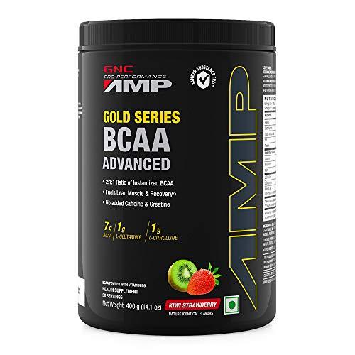 GNC Amp Gold Series BCAA Advanced - 400 gm (Kiwi Strawberry)