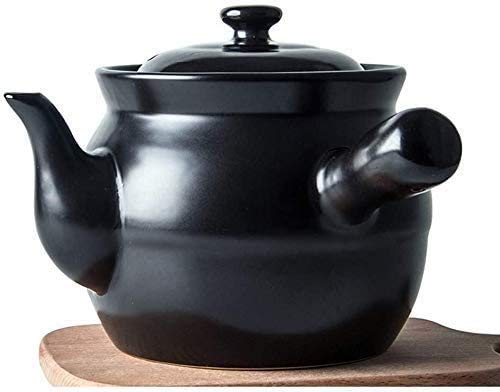 Cacerola con tapa, cacerola resistente al calor, olla de cerámica de primera calidad con tapa