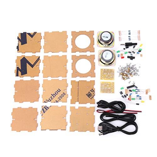 LLAni - Mini caja de bocinas con estuche 3Wx2 amplificador de soldadura componentes electrónicos
